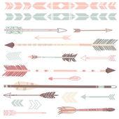 Set di frecce carino hipster — Vettoriale Stock