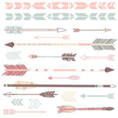 Set of cute hipster arrows — Stok Vektör
