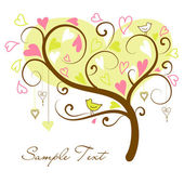 Stylized love tree — Vector de stock
