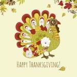 Thanksgiving turkey card — Stock Vector