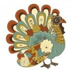 Thanksgiving turkey card — Stock Vector #33769273
