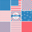 USA backgrounds — Vector de stock