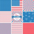 USA backgrounds — Stock Vector