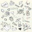 LOVE doodles — Image vectorielle
