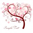 Love tree made of hearts — Stock Vector