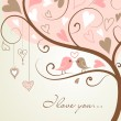Tree made of hearts — Vector de stock
