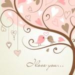 Tree made of hearts — Stock Vector