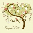 Love tree — Vettoriali Stock