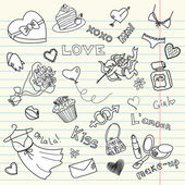 LOVE doodles — Vector de stock