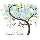 Love tree made of hearts — Vector de stock