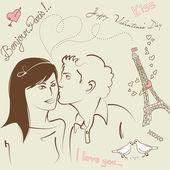 LOVE doodles — Stock Vector