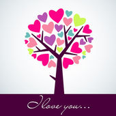 Heart tree — Stockvector