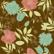 Vintage flower pattern — Stock Vector