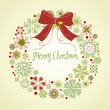 Christmas wreath — Stockvector #33771297