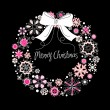 Vector de stock : Christmas wreath
