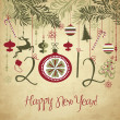 Happy New Year background. — Vettoriale Stock