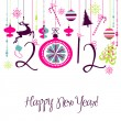 Happy New Year background. — Vettoriale Stock #33771755