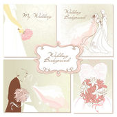 Wedding Backgrounds — Stock Vector