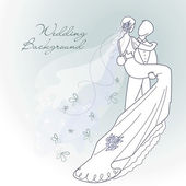 Glamorous wedding background — Vector de stock