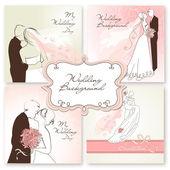 Wedding Backgrounds. — Stock Vector