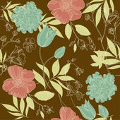 Vintage flower pattern — Stock Vector