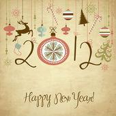 新年快乐背景. — 图库矢量图片