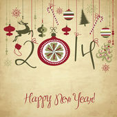2014 Happy New Year background. — Stock Vector