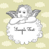 Vintage Angel — Stock Vector