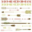 Hipster arrows — Stock Vector