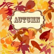 Autumn leaves background — Stock Vector #34055839