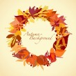 Stock Vector: Autumn Wreath