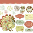 Thanksgiving clip art — Stock Vector