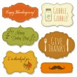 Stock Vector: Thanksgiving frames
