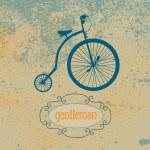 Antique high wheel bike — Stock Vector