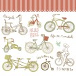 Vintage bicycle set — Imagen vectorial