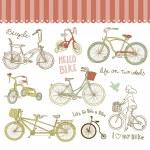 Vintage bicycle set — Stock Vector