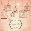 Vintage bird cages. — Stock Vector #34058269