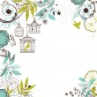 Floral summer background. — Imagen vectorial