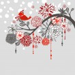 Winter branch — Stock Vector