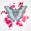 Decorative butterfly background — Imagens vectoriais em stock