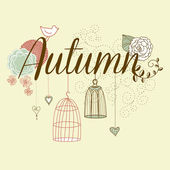 Floral Autumn background. — Stock Vector