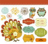 Thanksgiving clip art — Stock Vector