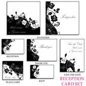 Reception card set — Stock Vector