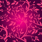 Pattern with pink branches — Stockvektor