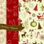 Retro Christmas patterns — Stock Vector #34063597
