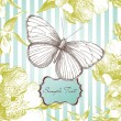 Card with a butterfly  — Vettoriali Stock