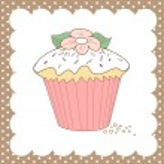 Cupcake doodle — Stock Vector