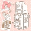 Travel with your vintage camera. — Image vectorielle