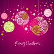 Card with christmas balls — Stock Vector #34062075
