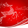 Reindeer on Red background — Stock Vector